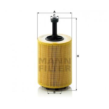 Alyvos | Tepalo filtras MANN-FILTER HU 719/7 x | MOVIDA.LT