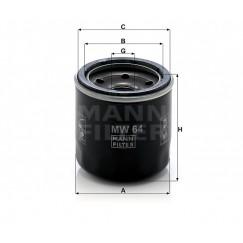 Alyvos | Tepalo filtras MANN-FILTER MW 64