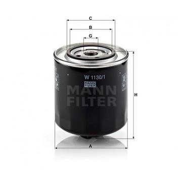 Alyvos | Tepalo filtras MANN-FILTER W 1130/1 | MOVIDA.LT