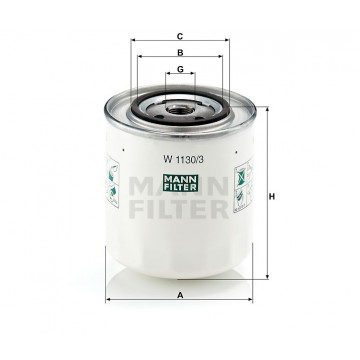 Alyvos | Tepalo filtras MANN-FILTER W 1130/3 | MOVIDA.LT
