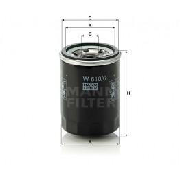 Alyvos | Tepalo filtras MANN-FILTER W 610/6