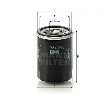 Alyvos | Tepalo filtras MANN-FILTER W 610/6 | MOVIDA.LT