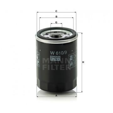 Alyvos | Tepalo filtras MANN-FILTER W 610/9 | MOVIDA.LT
