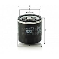 Alyvos | Tepalo filtras MANN-FILTER W 67/1