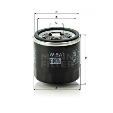 Alyvos | Tepalo filtras MANN-FILTER W 67/1 | MOVIDA.LT