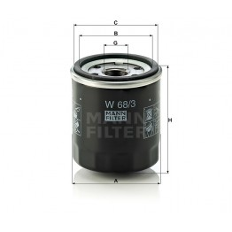 Alyvos | Tepalo filtras MANN-FILTER W 68/3