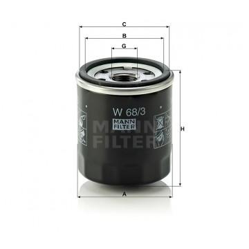 Alyvos | Tepalo filtras MANN-FILTER W 68/3 | MOVIDA.LT
