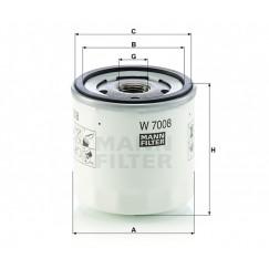 Alyvos | Tepalo filtras MANN-FILTER W 7008
