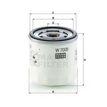 Alyvos | Tepalo filtras MANN-FILTER W 7008 | MOVIDA.LT