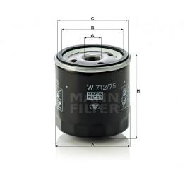 Alyvos | Tepalo filtras MANN-FILTER W 712/75