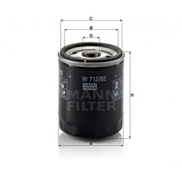 Alyvos | Tepalo filtras MANN-FILTER W 712/82