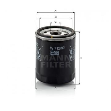 Alyvos | Tepalo filtras MANN-FILTER W 712/82 | MOVIDA.LT