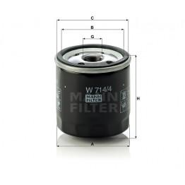 Alyvos | Tepalo filtras MANN-FILTER W 714/4