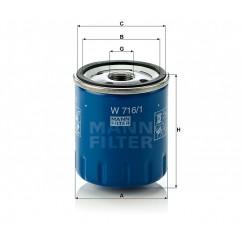 Alyvos | Tepalo filtras MANN-FILTER W 716/1