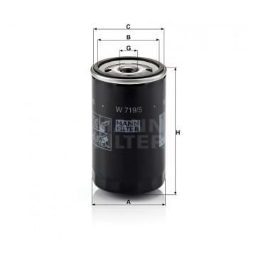 Alyvos | Tepalo filtras MANN-FILTER W 719/5 | MOVIDA.LT