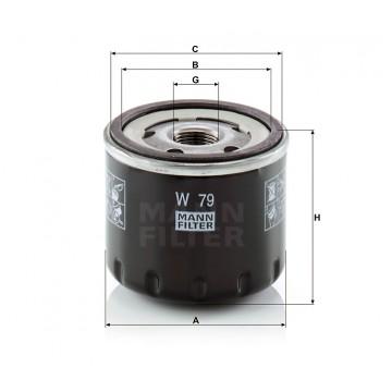 Alyvos | Tepalo filtras MANN-FILTER W 79 | MOVIDA.LT