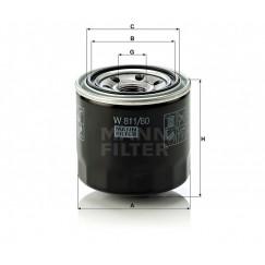 Alyvos | Tepalo filtras MANN-FILTER W 811/80