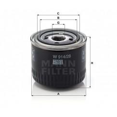 Alyvos | Tepalo filtras MANN-FILTER W 914/28