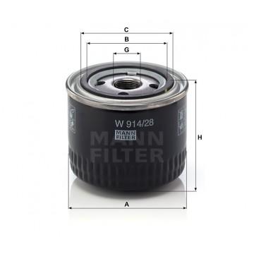 Alyvos | Tepalo filtras MANN-FILTER W 914/28 | MOVIDA.LT