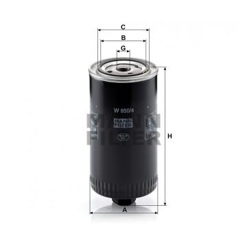Alyvos | Tepalo filtras MANN-FILTER W 950/4 | MOVIDA.LT