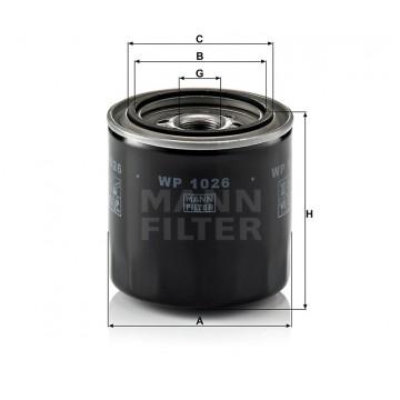 Alyvos | Tepalo filtras MANN-FILTER WP 1026 | MOVIDA.LT