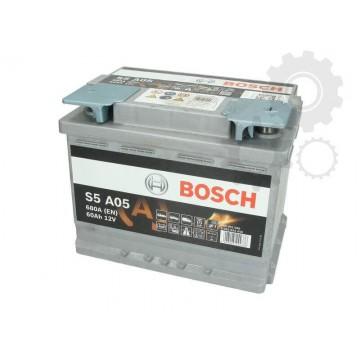 AGM AKUMULIATORIUS BOSCH S5 A05 60Ah 680A 242x175x190 - Movida.lt