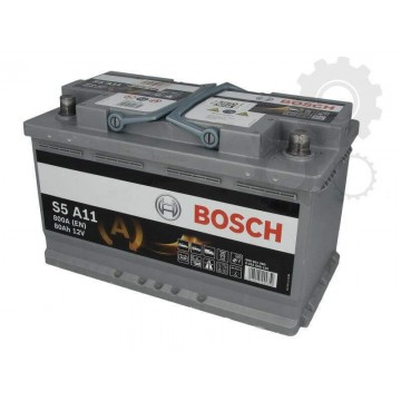 AGM AKUMULIATORIUS BOSCH S5 A11 80Ah 800A 315x175x190 - Movida.lt