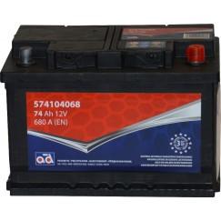 Akumuliatorius AD 74Ah 680A -/+